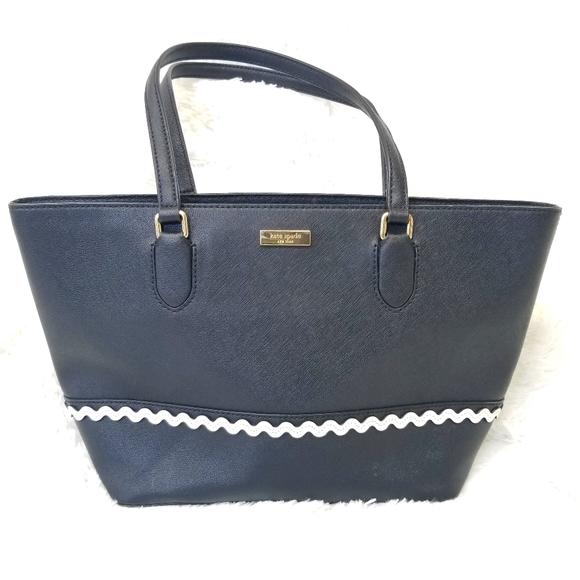 Kate Spade New York Leather Tote Black Bag